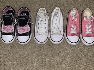 Girls Converse sneakers size 10 for Sale in Parkland, FL