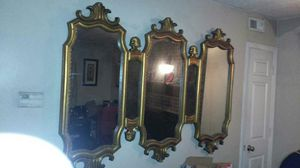 Gold antique mirror for Sale in Raleigh, NC
