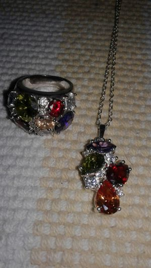 Beautiful multi stone on silver gorgeous for Sale in Colorado Springs, CO
