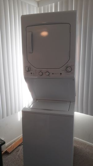Beautiful GE washer dryer 2 years old 24 in wide 27 in deep and 74 in high gas dryer located in Cedar Glen retirement village right off 571 for Sale in Ocean Gate, NJ