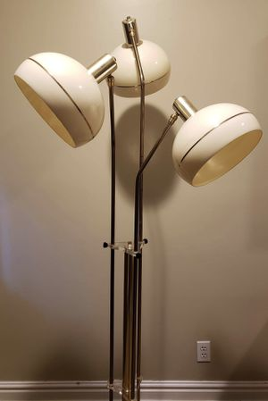 MCM - Vintage 3 Ball Marble and Brass Touch Lamp for Sale in Boca Raton, FL