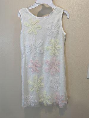Biscotti Girls White Dress with Flowers Size 12 for Sale in Auburn, WA