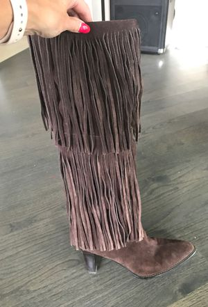 Women's fringe suede boots - size 10 for Sale in Medinah, IL