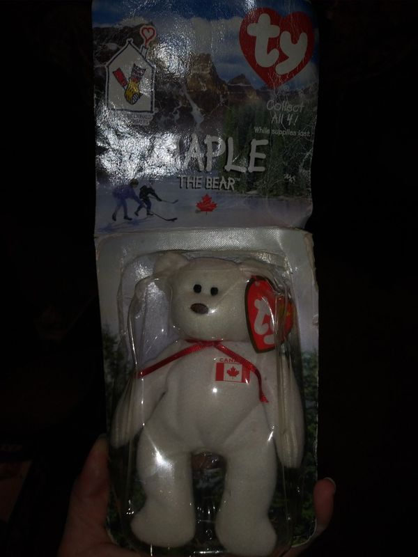 RARE - ty MAPLE The bear collectable.