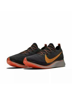 Men's Nike Zoom Fly FK Flyknit Running Shoes Black/Orange for Sale in Yuba City, CA