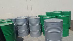 55 Gallon metal Barrels $15ea for Sale in Rosemead, CA