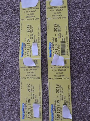 4 Raging Waters Tickets & 4 Buffet Tickets for Sale in Grand Terrace, CA