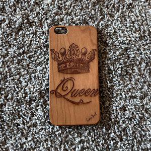 """Queen"" Crown Wooden IPhone 8 Plus Case for Sale in Austin, TX"