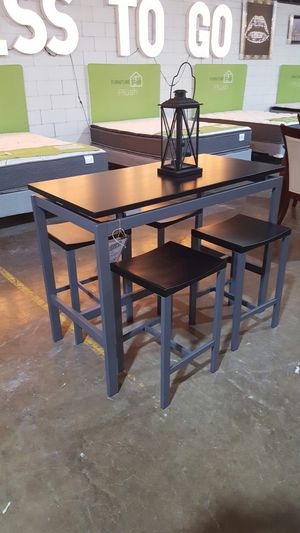 Grey and Black Table and Stools for Sale in Dallas, TX