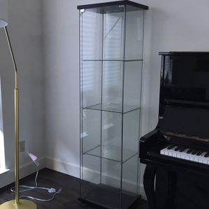 Glass Display Case Cabinet With 4 Shelves for Sale in Danville, CA