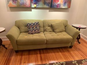Sofa very clean avocado color for Sale in Troy, NY
