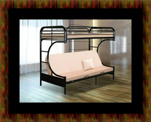 Twin futon bunk bed frame for Sale in Washington, DC