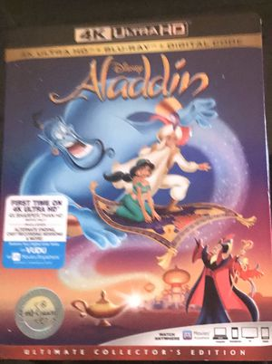 Alladdin 4K + Blu-ray Combo pack for Sale in Wadsworth, OH