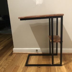 Walnut side table. Metal frame. Handmade. for Sale in Richmond, VA