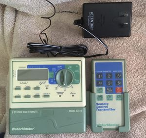 WaterMaster 6 Station Dual Program Sprinkler Timer with/ Remote - Model 57016 for Sale in Las Vegas, NV