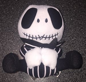 Jack skellington 8 inch seated plush. Nightmare before Christmas collectible for Sale in Queens, NY