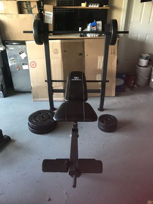 Weight bench with weights for Sale in Vero Beach, FL
