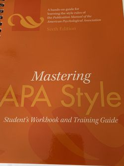 Mastering APA Style for Sale in Fort Lauderdale,  FL