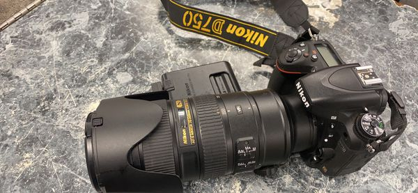 NIKON D750 with AF-S NIKKOR 70-200mm 1:2.8G II ED lens // with battery and charger