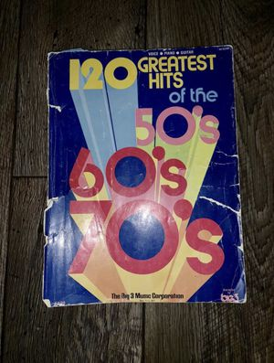 120 Greatest Hits From The 50s , 60s & 70s Voice Piano & Guitar !! for Sale in West Valley City, UT