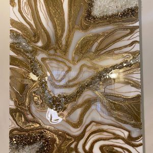 Gorgeous Gold Glam Modern Decor Wall Art (NEW) for Sale in Silver Spring, MD