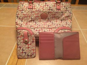 Authentic Coach Purse Set for Sale in Silver Spring, MD