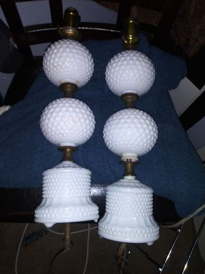 Antique hanging milk glass lamps for Sale in Tomball, TX