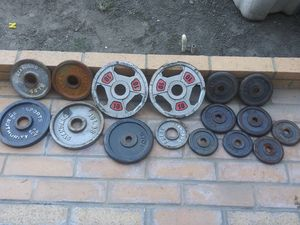 Leftover Weights. Standard/Olympic/Micro $50 for Sale in Bellflower, CA