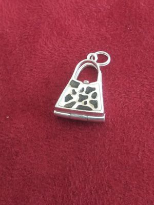 Antiques..VINTAGE 9.25 SILVER CHARM PURSE .very hard to find.purse opens .hide something for Sale in Lincoln Acres, CA