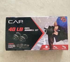 NEW 40lb Adjustable Vinyl Dumbbell Set. SEALED BOX for Sale in Mechanicsburg, PA