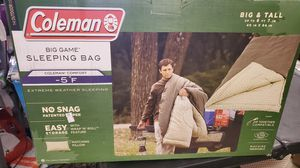 Coleman big game sleeping bag big and tall for Sale in Riverside, CA