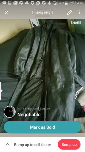 Leather trench coat for Sale in Pittsburgh, PA