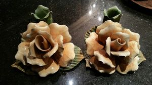Yellow rose candle holders set for Sale in West Covina, CA