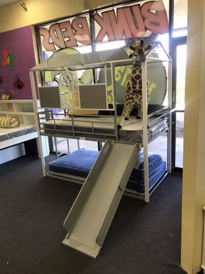 Twin over twin bunk bed with slide. for Sale in Glendale, AZ