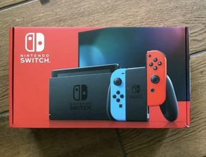 BRAND NEW: Nintendo Switch 32GB RED / BLUE NEON Console for Sale in Sandy, UT