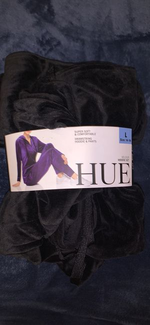 Hue Black Velour Hoodie set for Sale in Avis, PA