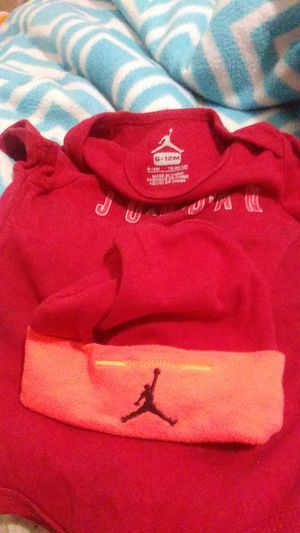 Baby air jordan hat and onie for Sale in Lebanon, PA