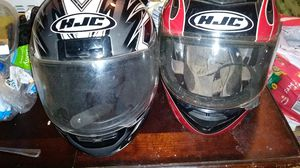 Motorcycle bike helmets 25 each Small and xl for Sale in Houston, TX