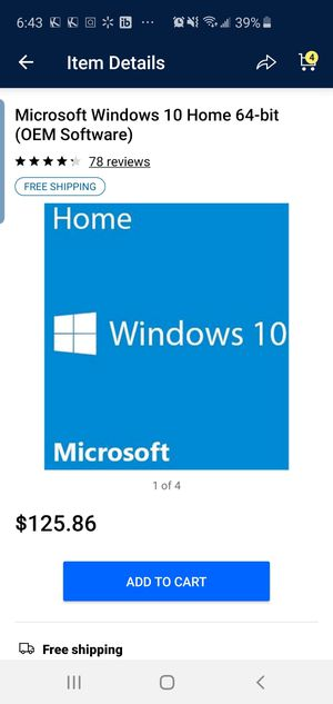 New sealed windows 10 oem home dvd for Sale in Grand Prairie, TX