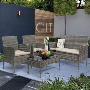 Brand New! 4 Piece Gray Outdoor Balcony Patio Furniture Set for Sale in Edgewood, FL