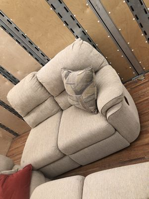 3 piece sectional cloth couch for Sale in Monroe Township, NJ