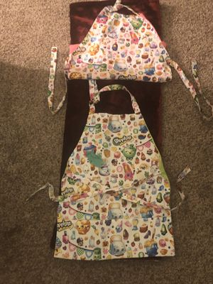 Two kids shopkins aprons for cooking for Sale in Alexandria, VA