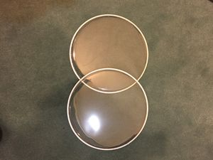 """2) 12"""" Clear Tom Drum Heads New for Sale in Highland, IL"""