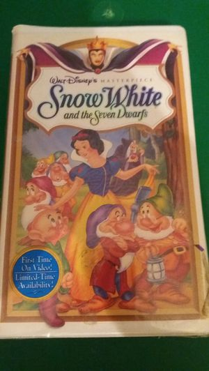 Disney's SNOW WHITE And The Seven Dwarfs Masterpiece (VHS) NEW! for Sale in Lewisville, TX