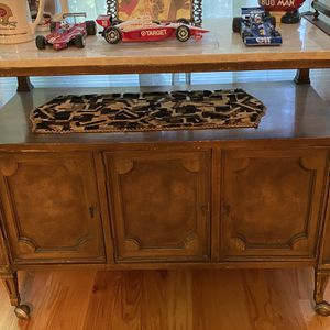 Rolling Antique Bar Cart With Marble Top for Sale in Redding, CT