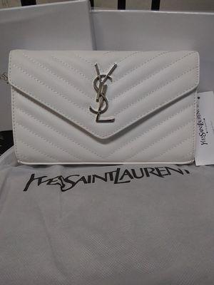 White ysl crossbody/clutch for Sale in Dulles, VA