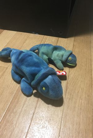 PAIR OF CHAMELEON ORIGINAL BEANIE BABY 'RAINBOW' for Sale in Clermont, FL
