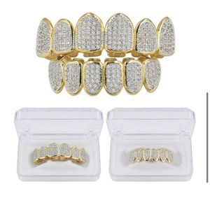 6/6 Hip Hop Punk Teeth Grillz Set Gold for Sale in South Portland, ME