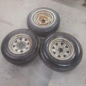 5 Lug Boat Trailer Tires And Rims for Sale in East Providence, RI