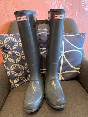 Gorgeous Hunter Tall Grey Rain Boots for Sale in Keizer, OR